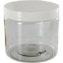 Clear Acrylic Jars with White Lids
