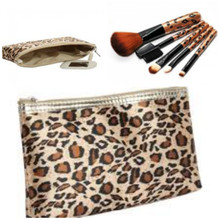 Leopard Pouch and Brush Set