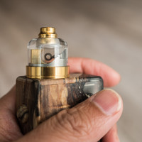 "Bell Vape by Chris Mun - ""Bell Cap for Monarch RDA by Monarchy Vapes"". Shown with Monarch deck, drip tip, beauty ring, and mod for demonstration purposes only. These items are not included in this sale. This sale is ONLY for the Bell Cap."