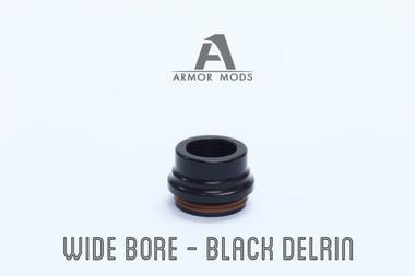 "Armor Mods - ""Wide Bore Drip Tip 2.0 for Armor RDA, Black Delrin"""