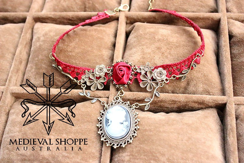 Steampunk Red Choker