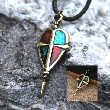 Cross & Shield Pendant