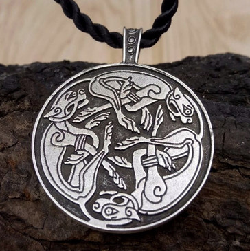 Celtic Hunting Dogs Pendant (Book of Kells)