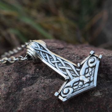 All-Seeing-Eyes Viking Pendant (Large Mjöllnir)
