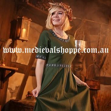Short-sleeved Medieval Dress