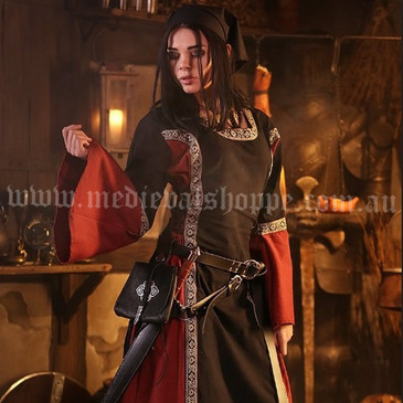 Black & Red Medieval Dress (4066)