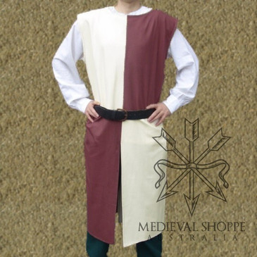 Cream & Burgundy Surcoat