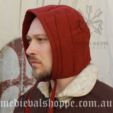 Red Arming Cap (Padded Coif)