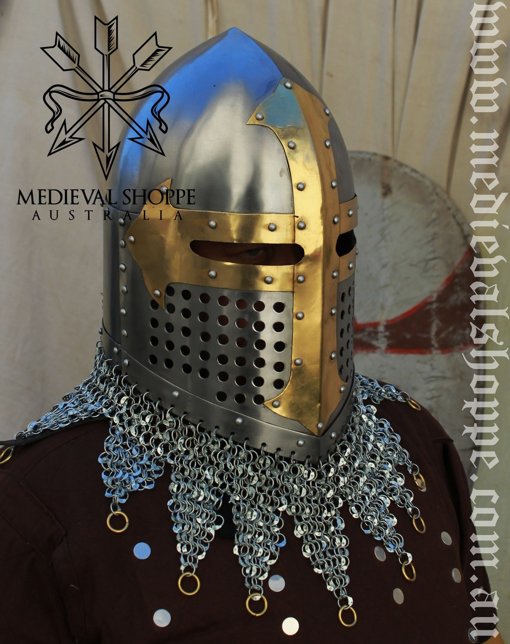 Super Heavy-Duty Medieval Battle Helm