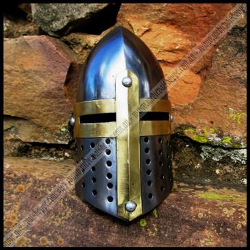 Miniature Medieval Sugarloaf Helmet