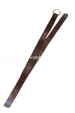 Brown Leather Studded & Segmented Medieval Belt