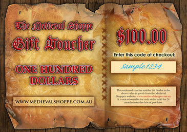 Medieval Shoppe $100 Gift Voucher