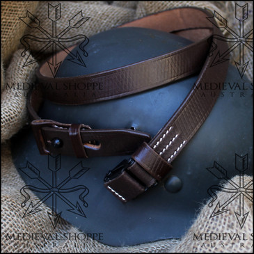 German Mauser K98k K98 M48 Brown Leather Rifle Sling (Dark Brown)