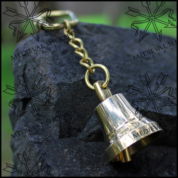 Merchant Ship Bell Kechain - Nautical Keyring