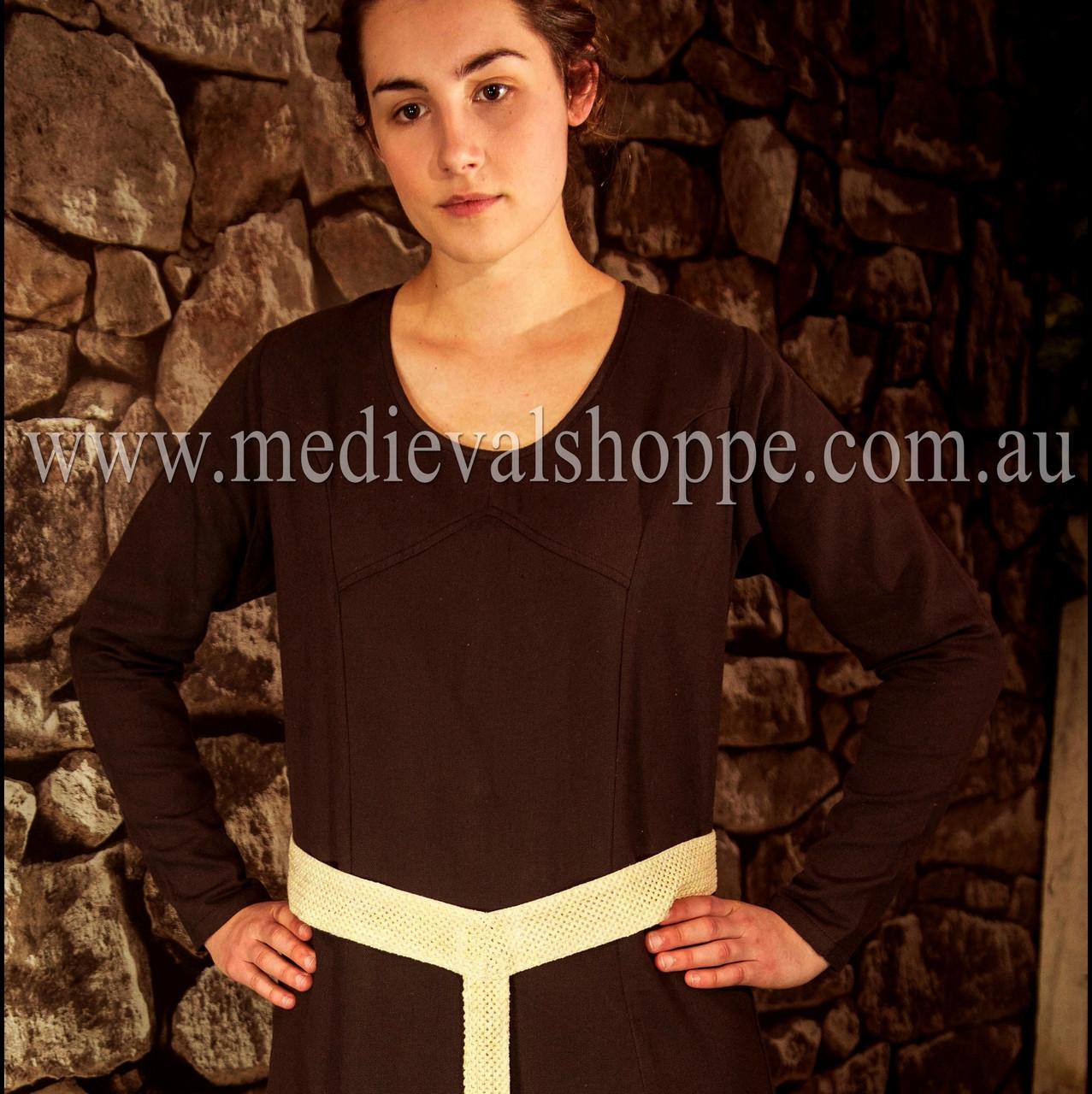 Brown Multi-era Dress, medieval Viking costume