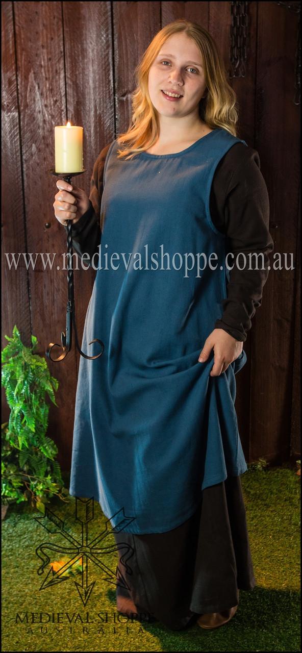 Blue Multi-era Sleeveless Overdress - The Medieval Shoppe