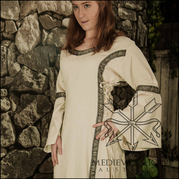 Early Medieval Dress (Linen Colour Cloth) Medium Size 12/14