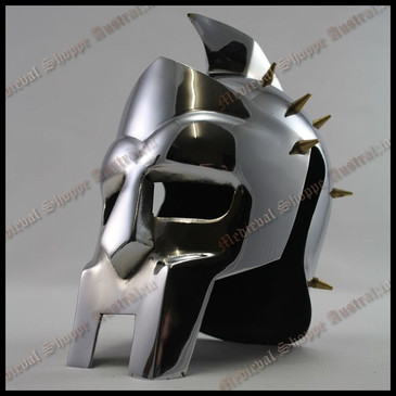 Miniature Gladiator Helmet with Wooden Stand