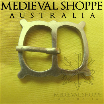 Brass Medieval Buckle with Four External Knops