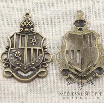 Antique Bronze Heraldic Crest