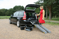 Channel Car Loading Ramps - In Use
