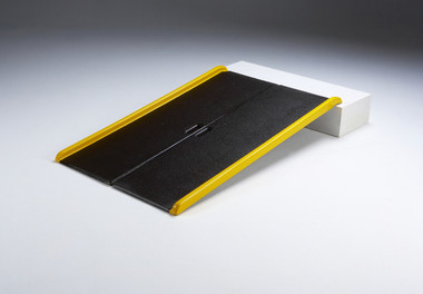 Lightweight Single-Fold Wheelchair Ramp - Deployed
