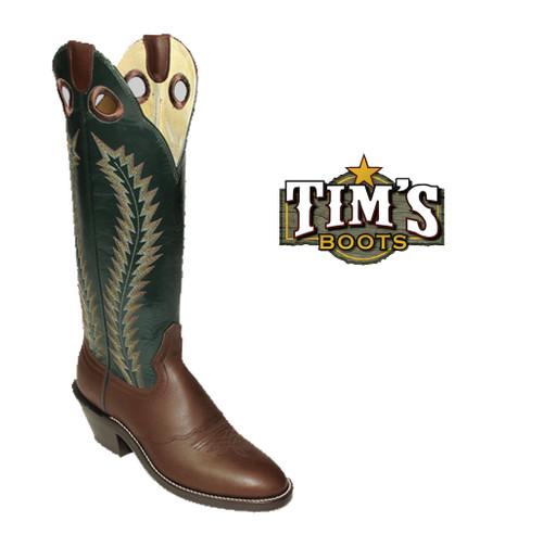 Hondo Boots Brown Retan Buckaroo Boots