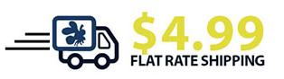 $4.99 flat shipping