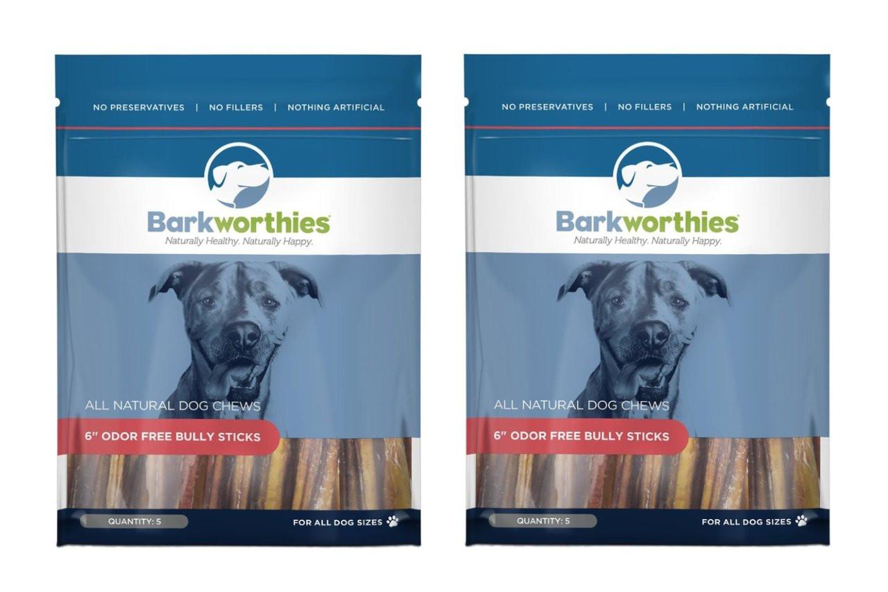 barkworthies odor free bully stick treat 6 5ct. Black Bedroom Furniture Sets. Home Design Ideas