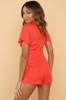Look This Way Romper - Red