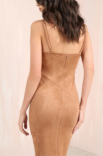Get Me Bodied Dress - Camel