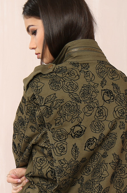 Sweet Command Jacket  - Olive