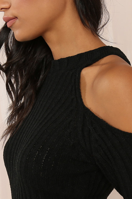 Brush It Off Dress - Black