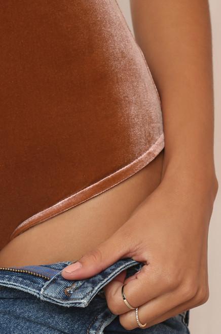 Crushed It Bodysuit - Mauve Velvet