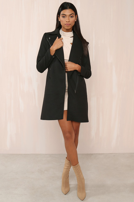 Cover Up Coat - Black