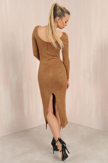 Bold Move Dress Camel
