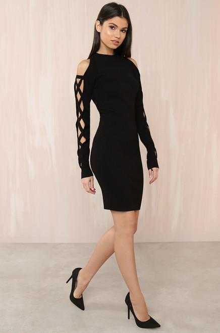 Cut It Out Dress - Black