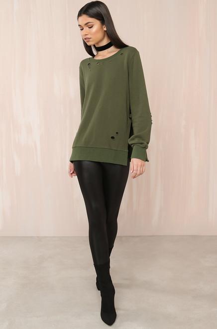 Let's Shred Pullover - Olive