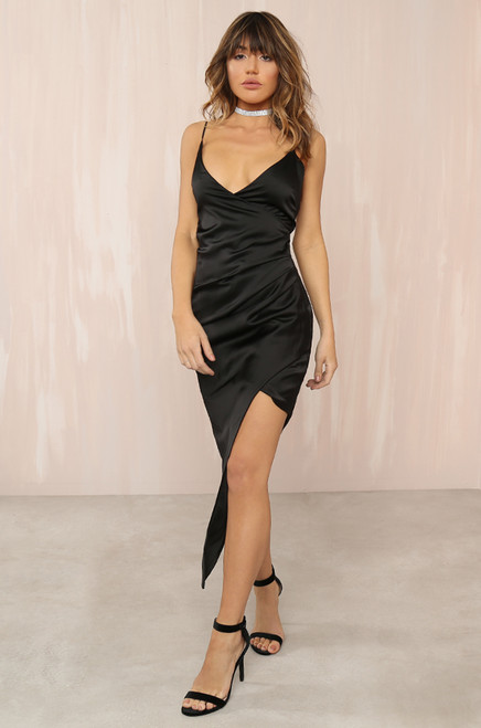 Ruche Hour Dress - Black