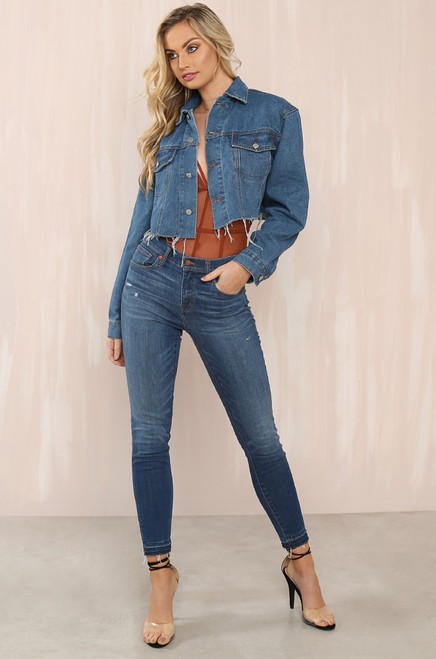 In The Fray Jacket - Medium Denim