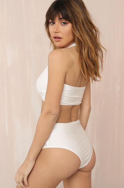 Tied Up Bikini Set - White