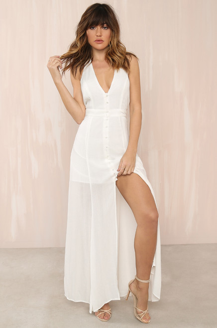 Great Lengths Dress - White