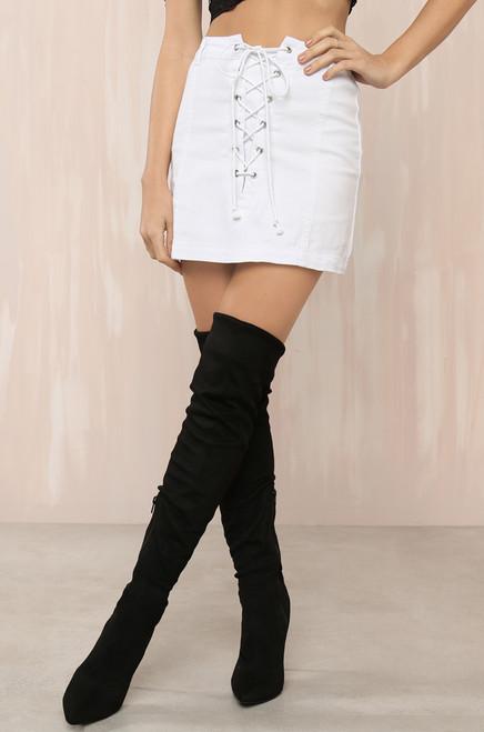 Short Story Skirt - White