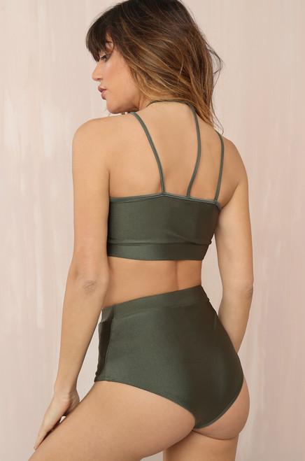 Line Up Bikini Set - Olive