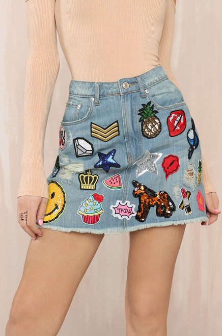 Feeling You Skirt - Denim