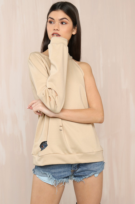 Off And On Sweater - Nude