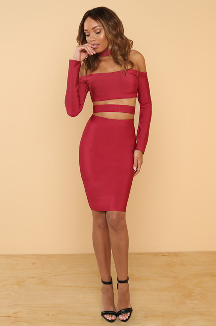 Touch My Body Dress - Red