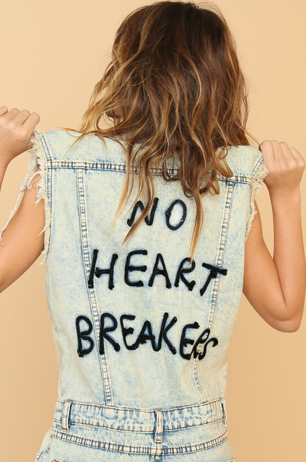 Break Your Heart Jumpsuit - Denim