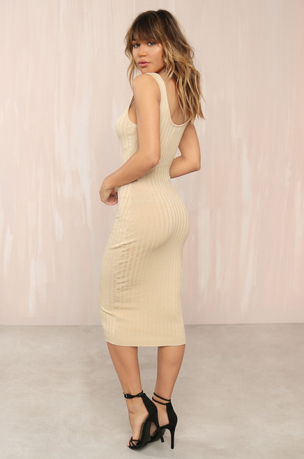 Keep Dreaming Dress - Nude