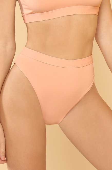 New Wave Bikini Bottom- Blush